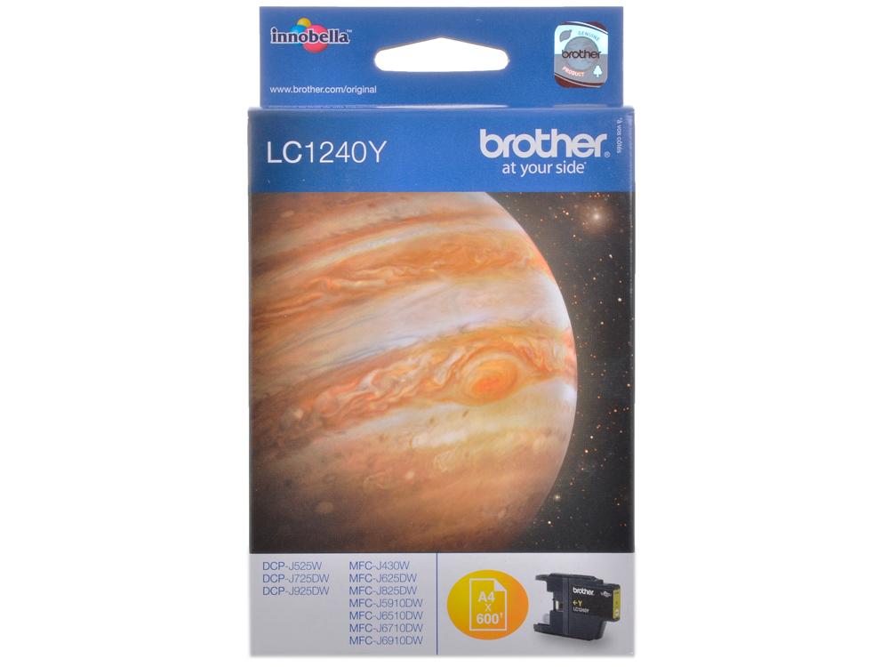 Картридж струйный Brother LC1240Y картридж струйный brother lc663bk