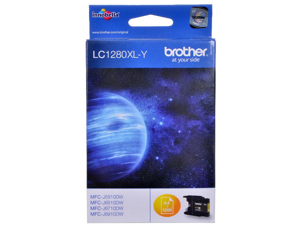 Картридж струйный Brother LC1280XLY картридж brother lc1280xly желтый