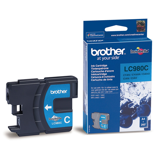 Картридж струйный Brother LC980C картридж струйный brother lc980c