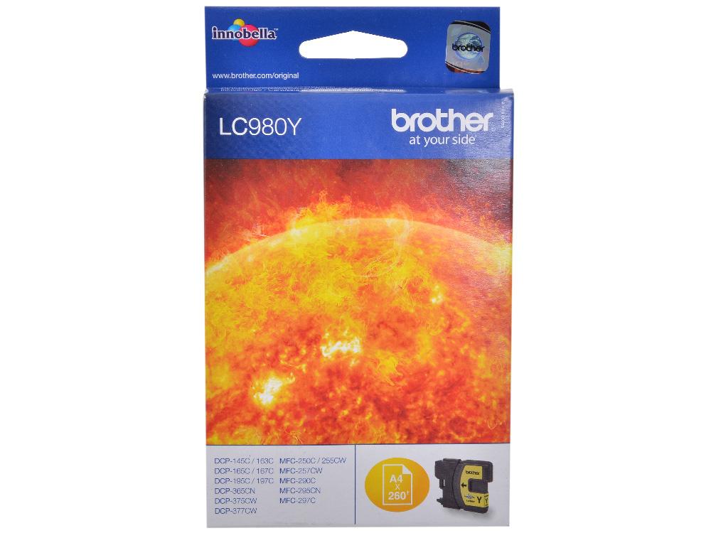 Картридж струйный Brother LC980Y цена