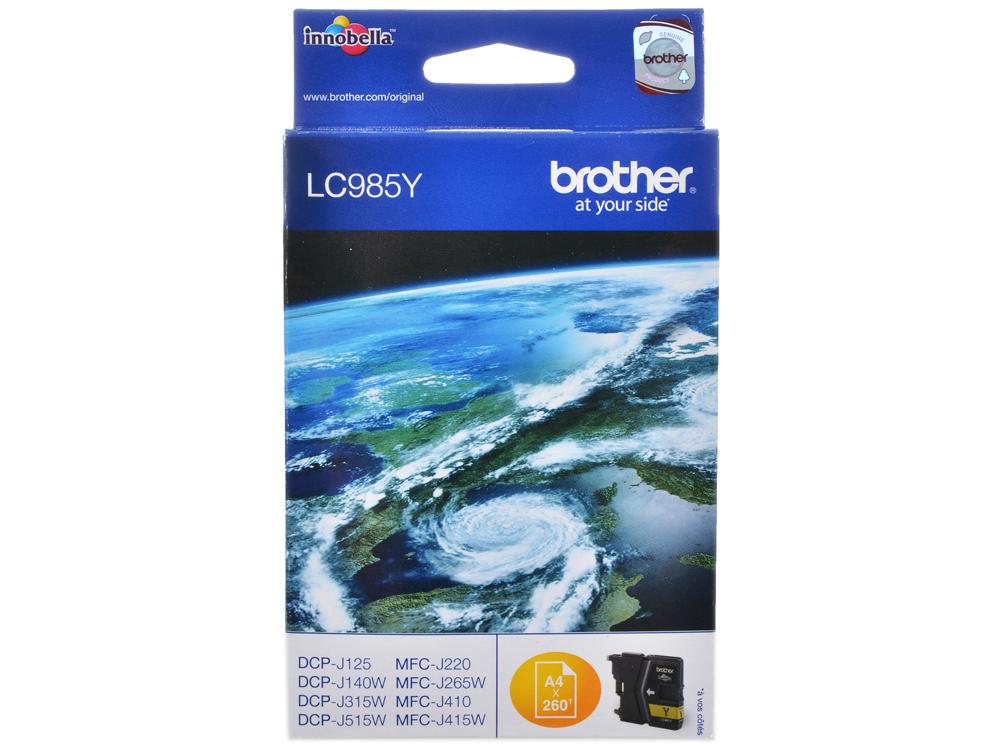Картридж струйный Brother LC985Y картридж струйный brother lc985y