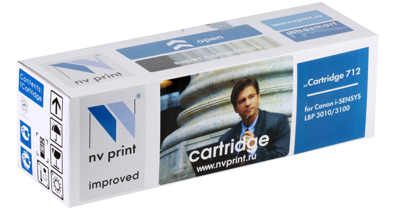 Картридж NV-Print совместимый Canon 712 для i-SENSYS LBP 3010/3100/HP LJ P1005. Чёрный. 1500 страниц. картридж nv print cf213a canon 731 magenta для hp lj pro m251 276 canon lbp7100cn 7110cw