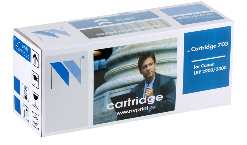 Картридж NV-Print совместимый Canon 703 для LBP 2900/3000/1010/1012/1015/1020/1022/3015/3020/3030. Чёрный. 2000 страниц. 2pcs alzenit oem new for hp 1010 1012 1015 1020 3015 3020 3030 charge roller q2612a printer parts