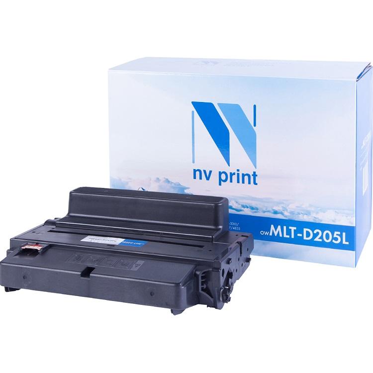 Картридж NV-Print совместимый Samsung MLT-D205L для ML-3310/3710/SCX-4833/5637. Чёрный. 5000 страниц. картридж mlt d205l see