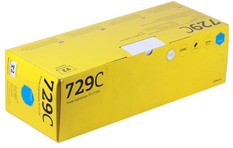 Картридж T2 TC-C729C Cyan (с чипом) картридж для принтера t2 tc hcf413a с чипом purple