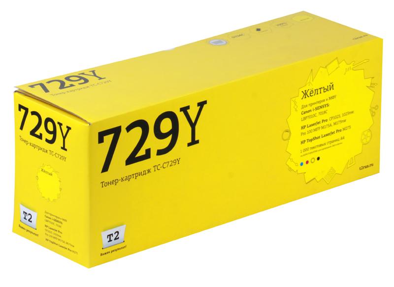 Картридж T2 TC-C729Y Yellow (с чипом) картридж для принтера t2 tc hcf413a с чипом purple