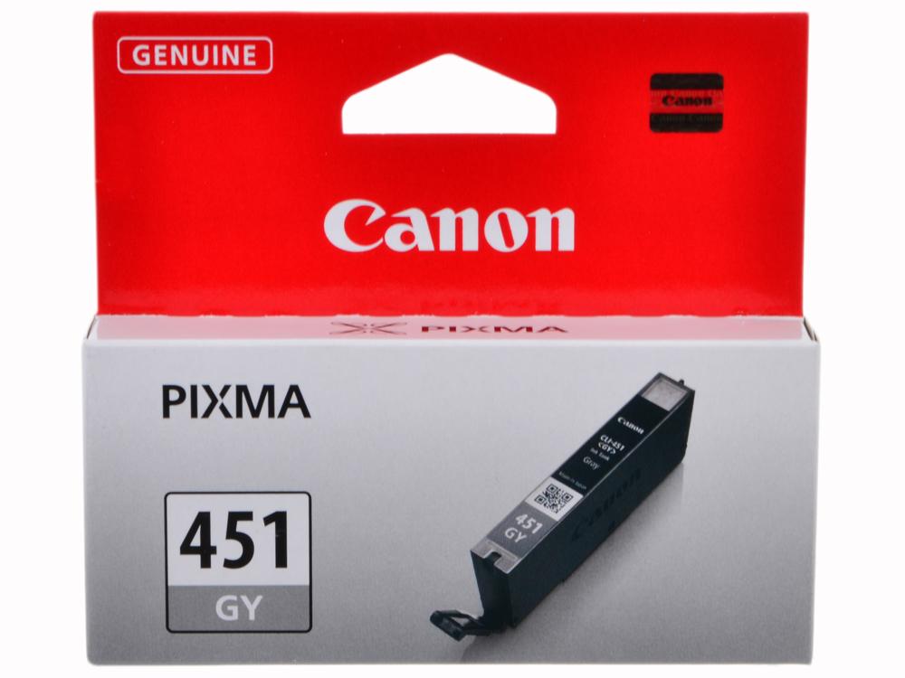 Картридж Canon CLI-451GY для MG6340, MG5440. Серый. 780 страниц. чернильный картридж canon cli 451gy xl grey