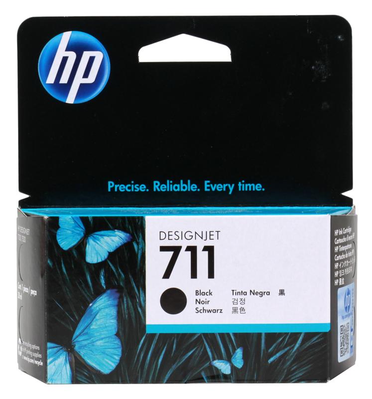 Картридж HP 711 с черными чернилами 38мл CZ129A картридж hp 711 с голубыми чернилами 29мл cz130a