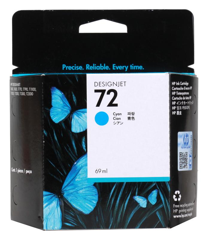 Картридж HP C9398A (72) Cyan 69 ml картридж для принтера hp c9399a 72 69 ml magenta ink cartridge