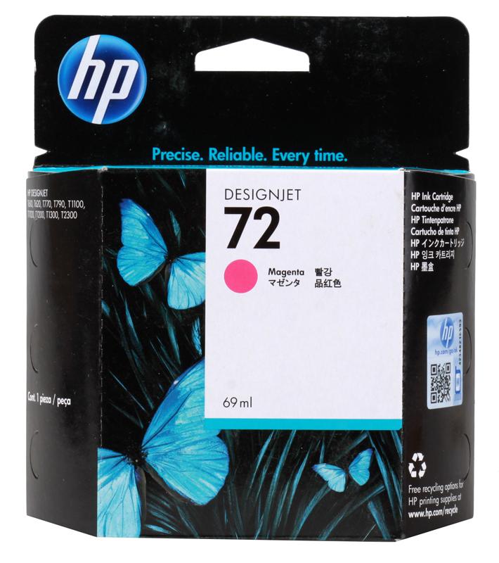 Картридж HP C9399A (72) Magenta 69 ml картридж hp pigment ink cartridge 70 black z2100 3100 3200 c9449a