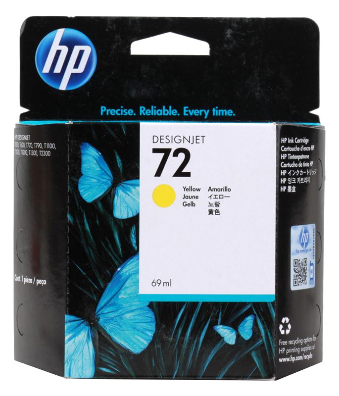 Картридж HP C9400A (72) Yellow 69 ml картридж для принтера hp cn624ae yellow