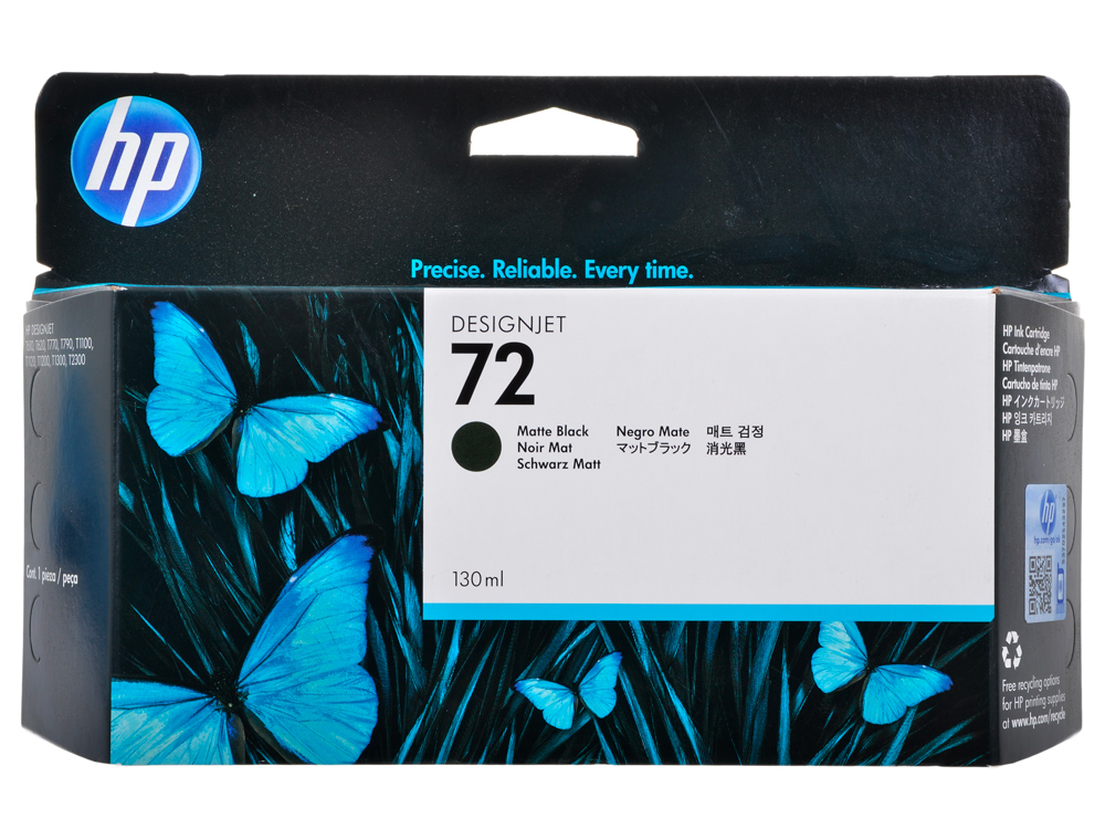 Картридж HP C9403A (72) Matte Black 130 ml картридж hp pigment ink cartridge 72 matte black c9403a
