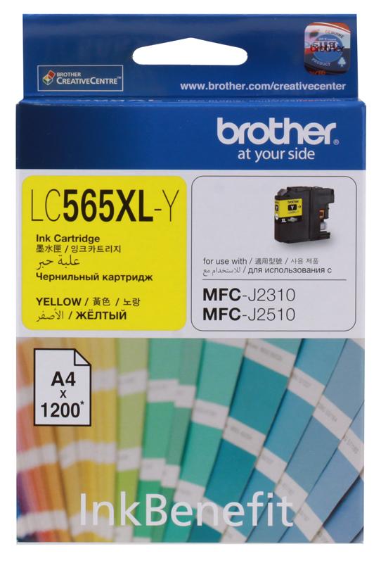 Картридж струйный Brother LC565XLY картридж струйный brother lc985y