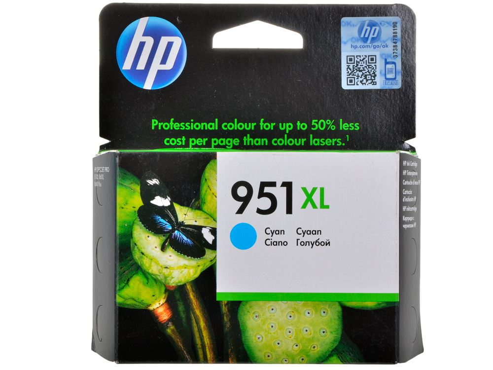 Картридж HP CN046AE (№951XL) Голубой цена