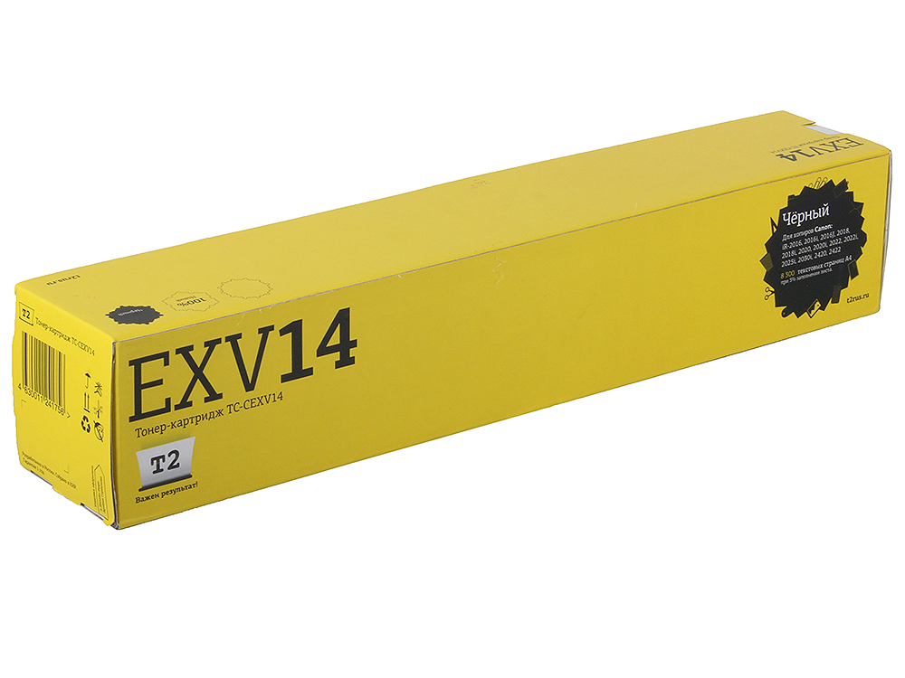 Тонер-картридж T2 TC-CEXV14 Black картридж для мфу t2 tc h78a black