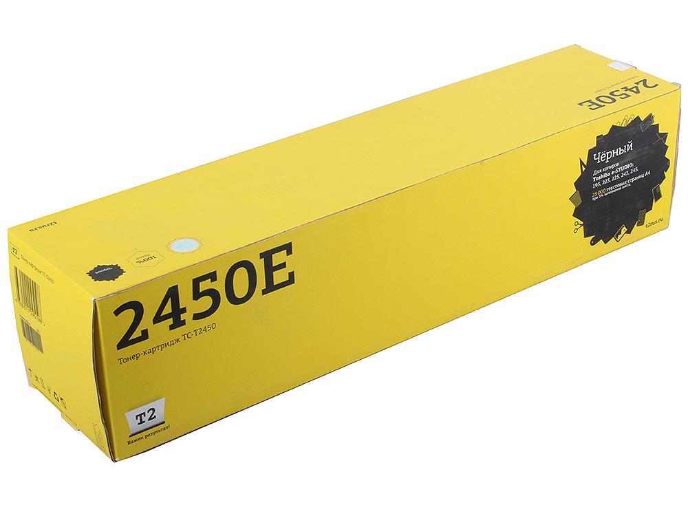 Тонер T2 TC-T2450 Black для Toshiba e-STUDIO 195/ 223/ 225/ 243/ 245 (25000 стр.) (аналог T2450E) картридж t2 tc t2450 для toshiba e studio 195 223 225 243 245 черный 25000стр