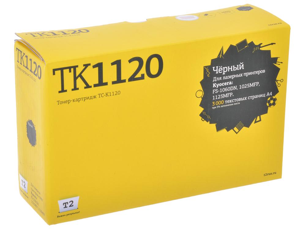 Тонер-картридж T2 TC-K1120 (с чипом) картридж для принтера t2 tc hcf413a с чипом purple