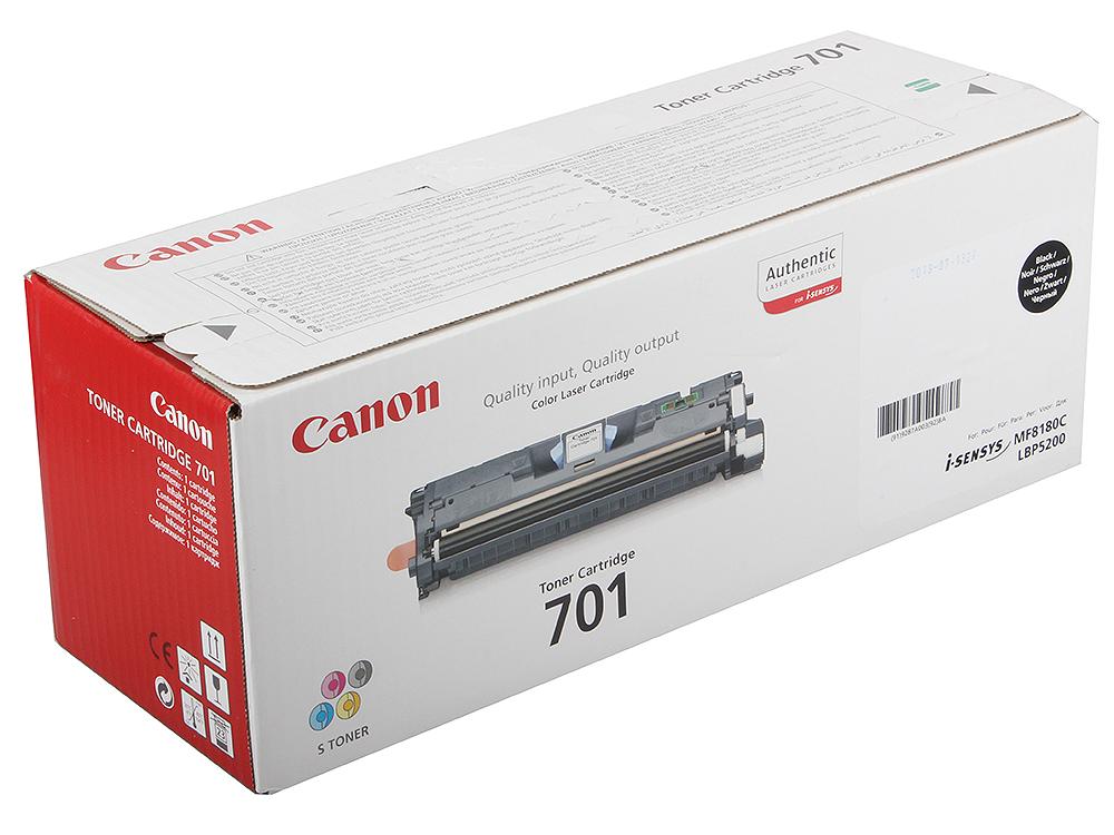 Картридж Canon 701Bk для принтеров LBP5200/MF8180C. Чёрный. 5000 страниц. картридж canon 701 magenta для lbp5200