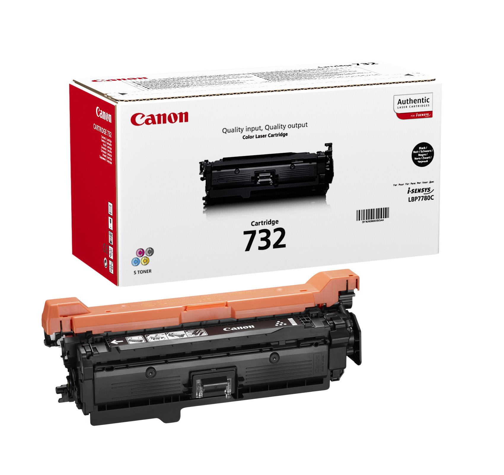 Картридж Canon 732Bk для принтеров LBP7780Cx. Чёрный. 6100 страниц. hot selling lower fuser roller for canon ir7095 ir7086 7095 7105 7200 8500 9070 bottom pressure roller