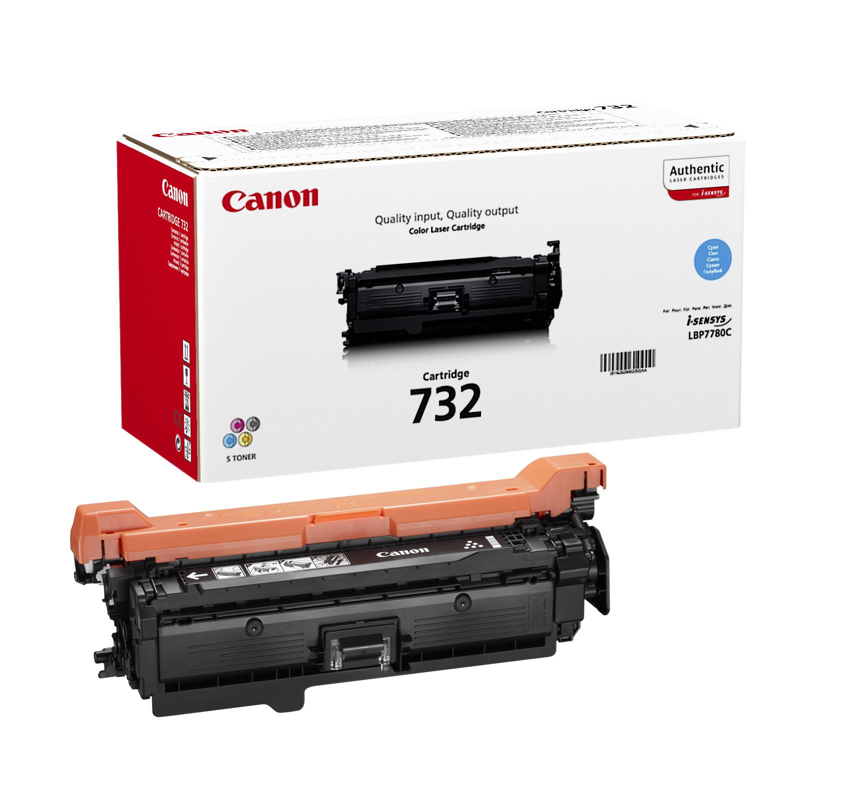 Картридж Canon 732C для принтеров LBP7780Cx. Голубой. 6400 страниц. картридж canon 732c голубой [6262b002]
