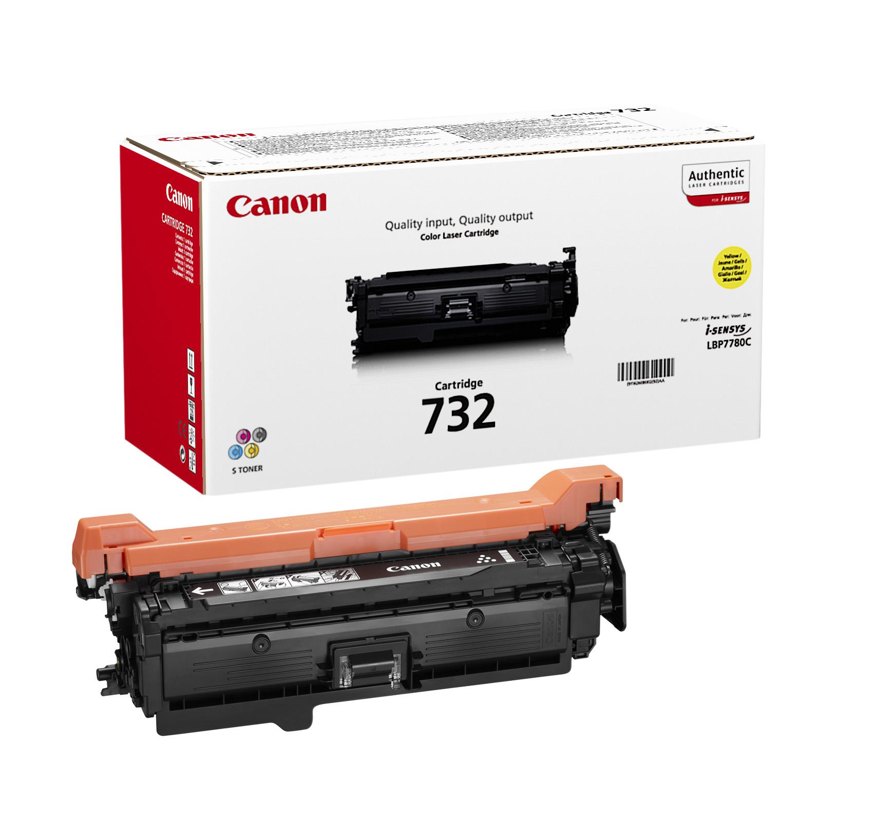 Картридж Canon 732Y для принтеров LBP7780Cx. Жёлтый. 6400 страниц.
