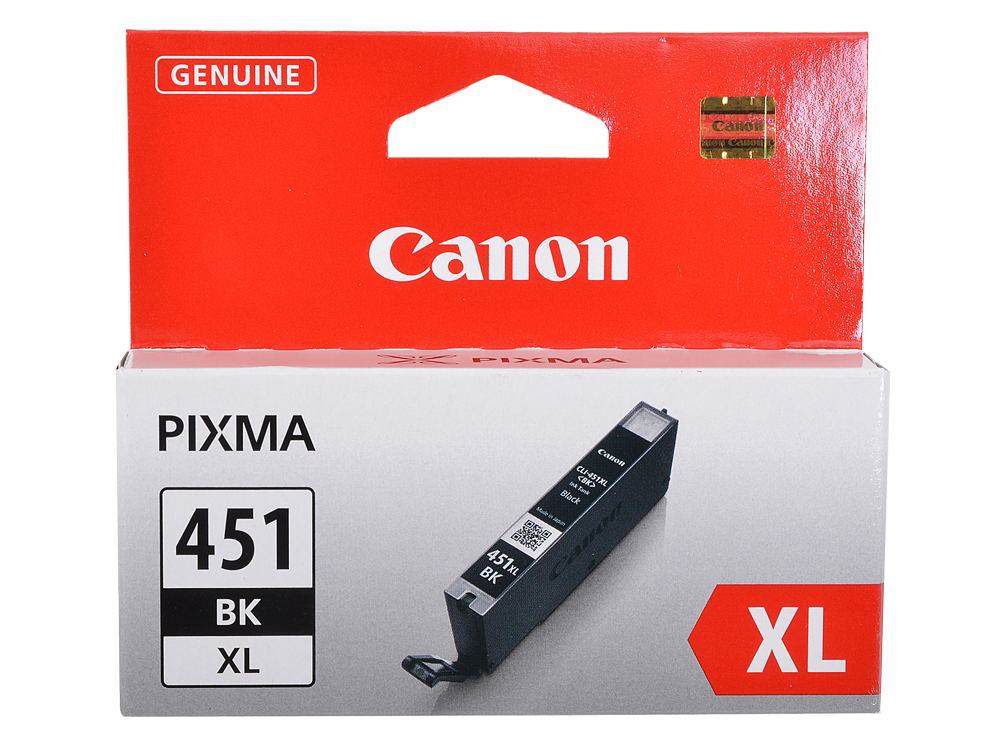 Картридж Canon CLI-451BK XL для MG6340, MG5440, IP7240 . Чёрный. 4425 страниц. cactus cs cli451c cyan струйный картридж для canon mg 6340 5440 ip7240