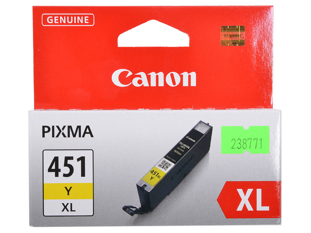 Картридж Canon CLI-451Y XL для MG6340, MG5440, IP7240 . Жёлтый. 685 страниц. cactus cs cli451c cyan струйный картридж для canon mg 6340 5440 ip7240