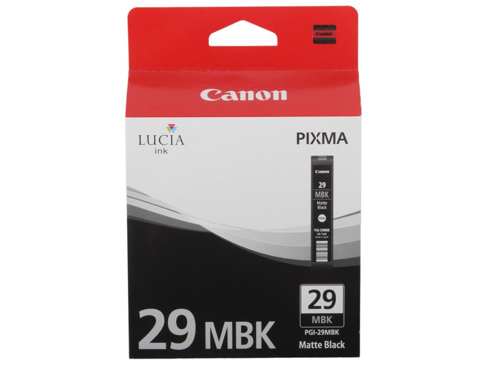 Картридж Canon PGI-29MBK для PRO-1. Матовый чёрный. 505 страниц. чернильный картридж canon pgi 29pm