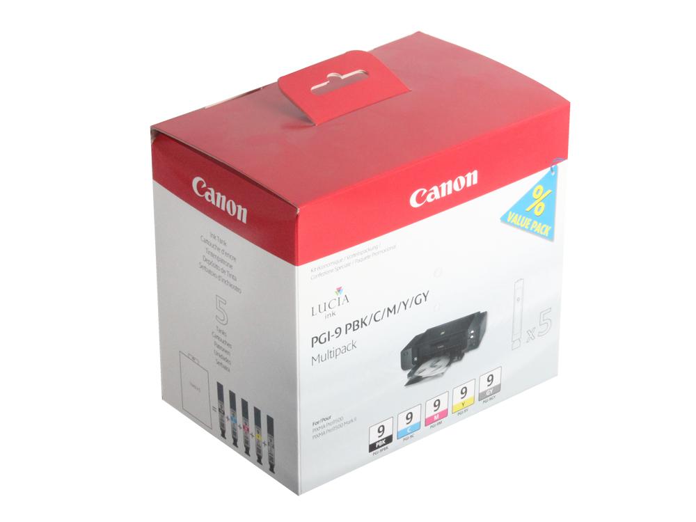 Картридж Canon PGI-9 PBK/C/M/Y/GY для PIXMA Pro9500. Фотокартридж чёрный, голубой, пурпурный, жёлтый, серый. встраиваемый светильник eglo 94046