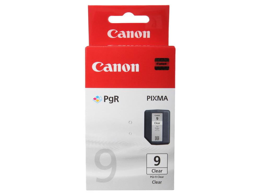 Картридж Canon PGI-9Clear для струйных принтеров Canon iP100. Прозрачный. 1635 страниц. canon pgi 5bk black картридж для струйных мфу принтеров