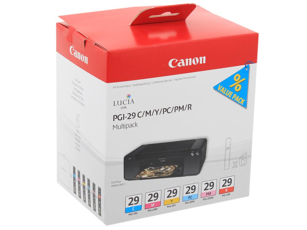 Набор картриджей Canon PGI-29 CMY/PC/PM/R Multi для PRO-1 чернильный картридж canon pgi 29pm