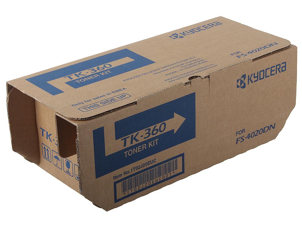 Тонер Kyocera TK-360 для FS-4020DN. Чёрный. 20000 страниц. au tk364 manufacturer toner cartridge reset chip for kyocera fs 4020dn 4020 4020dn laser printer