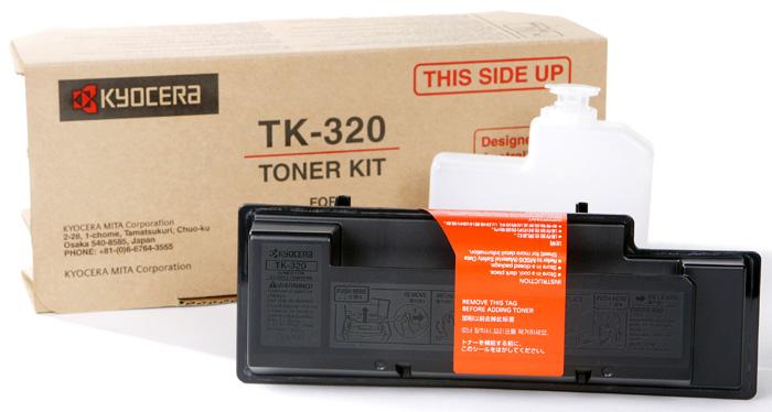 Тонер Kyocera TK-320 для FS-3900DN/4000DN. Чёрный. 15000 страниц. снят картридж kyocera tk 320 для fs 4000dn черный 15000стр