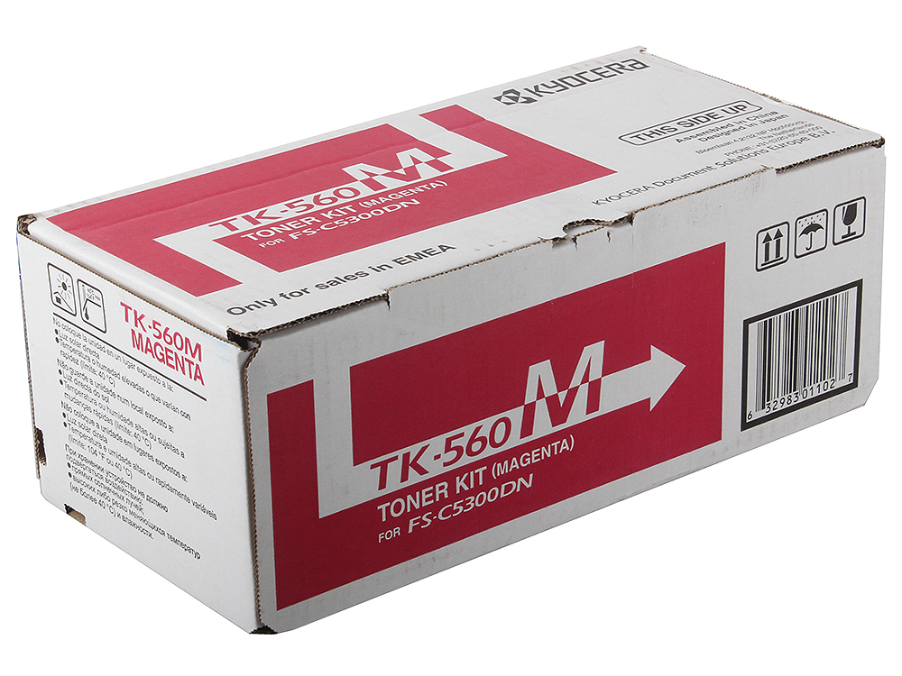Тонер Kyocera TK-560M для FS C5300 DN. Пурпурный. 10000 страниц. kyocera dv 560m