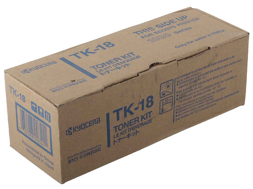 Тонер Kyocera TK-18 ля FS-1018MFP/1020/1118MFP. Чёрный. 7200 страниц new original kyocera 2dc20040 frame fuser low for km 1500 1820 fs 1118mfp