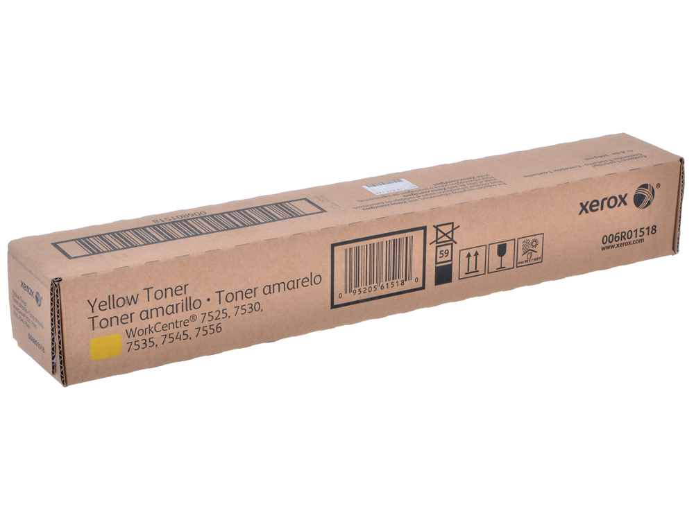 Картридж Xerox 006R01518 для WC 78XX/75XX. Жёлтый. 15000 страниц.