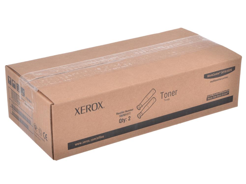 Картридж Xerox 106R01277 для WC 5016/5020, в 1 упаковке 2 тубы. Чёрный. 12600 страниц. картридж xerox 106r01277