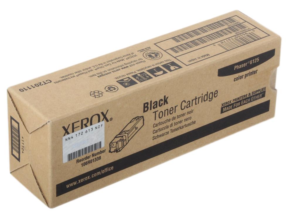 Картридж Xerox 106R01338 для Phaser 6125. Чёрный. 2000 страниц. картридж xerox 109r00725 для phaser 3120 3130 чёрный 3000 страниц