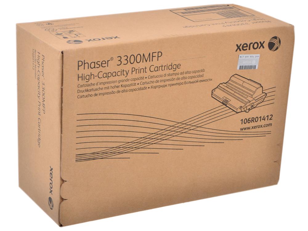 Картридж Xerox 106R01412 для Phaser 3300 MFP/X. Чёрный. 8000 страниц. картридж xerox 106r01411 для phaser 3300 mfp x черный 4000 страниц