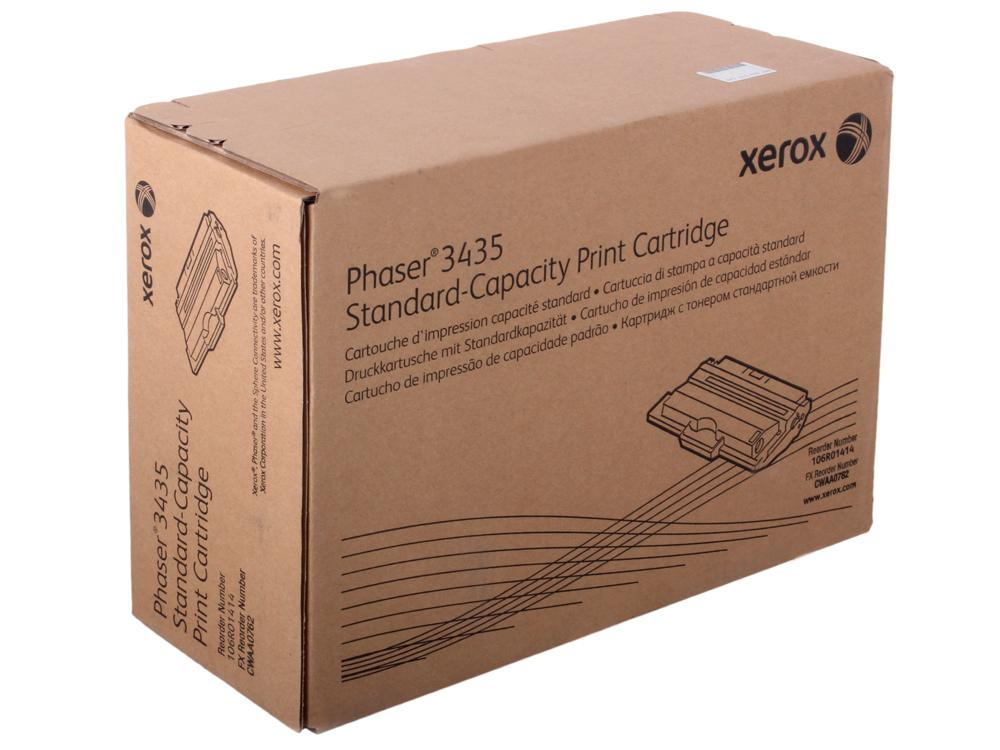 Картридж Xerox 106R01414 для Phaser 3435. Чёрный. 4000 страниц. картридж xerox 109r00725 для phaser 3120 3130 чёрный 3000 страниц