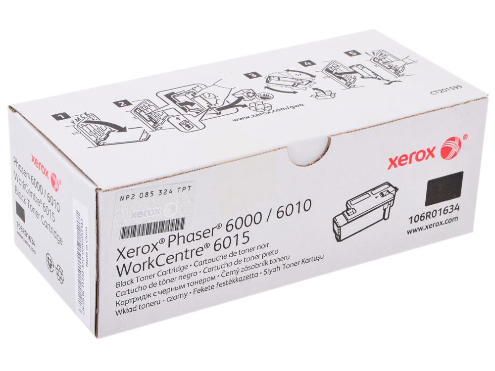 Картридж Xerox 106R01634 для Phaser 6000/6010. Чёрный. 2000 страниц. картридж easyprint lx 6000b для xerox phaser 6000 6010n workcentre 6015 чёрный 2000 страниц с чипом 106r01634