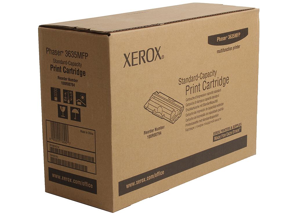 Картридж Xerox 108R00794 для Phaser 3635. Чёрный. 5000 страниц. картридж xerox 109r00725 для phaser 3120 3130 чёрный 3000 страниц