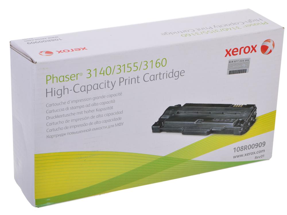 цена на Картридж Xerox 108R00909 для Phaser 3140/3155/3160. Чёрный. 2500 страниц.