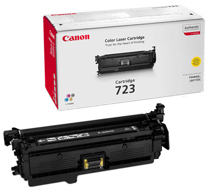 Картридж Canon 723 Y для LBP 7750/7750CDN . Жёлтый. 8500 страниц. тонер картридж canon 723y 2641b002 желтый для canon lbp 7750cdn 8500стр