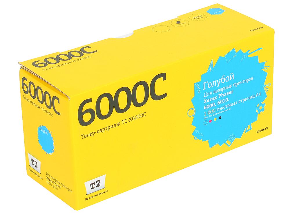 Тонер-картридж T2 TC-X6000C (с чипом) картридж для принтера t2 tc hcf413a с чипом purple