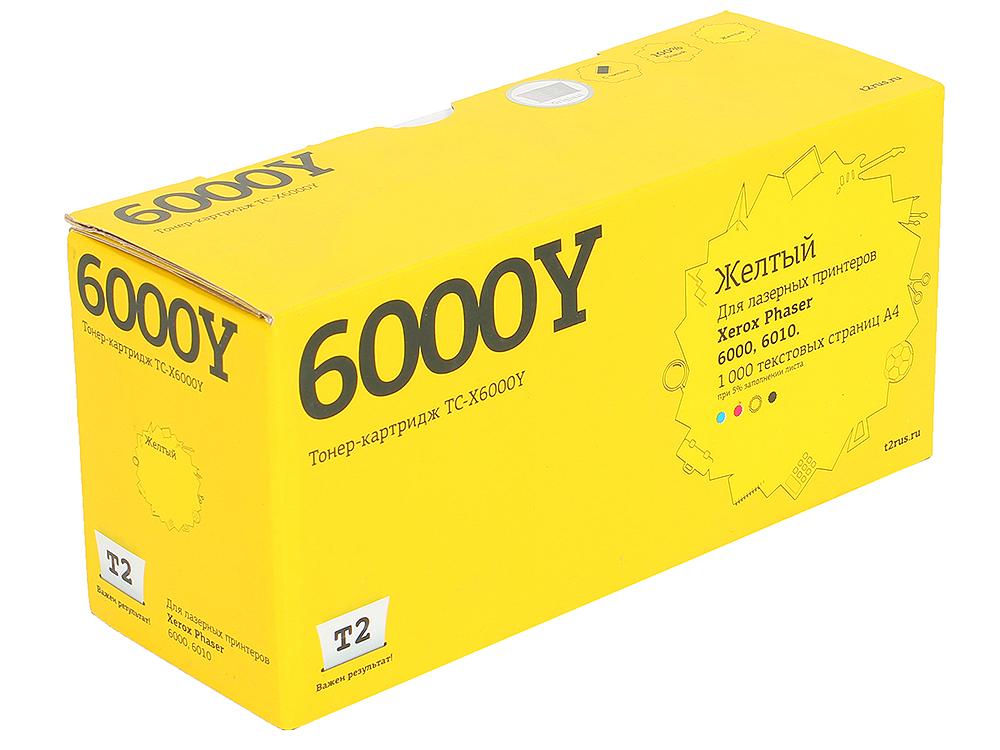 Тонер-картридж T2 TC-X6000Y (с чипом) картридж t2 tc b2275 черный