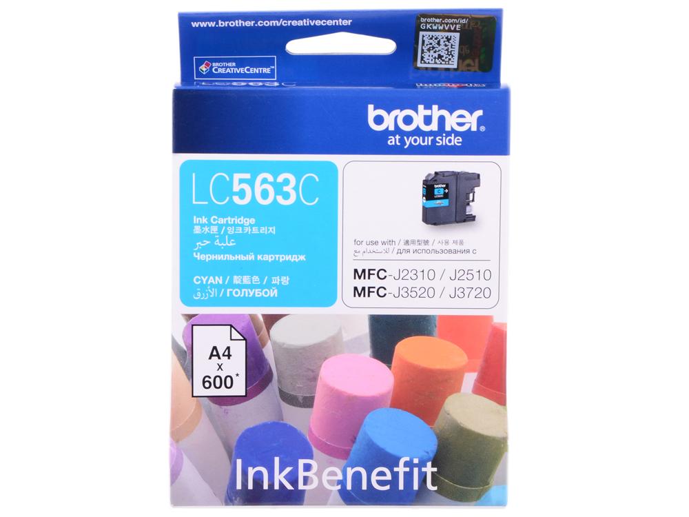 Картридж струйный Brother LC563C картридж brother lc563c голубой картридж струйный стандартная голубой
