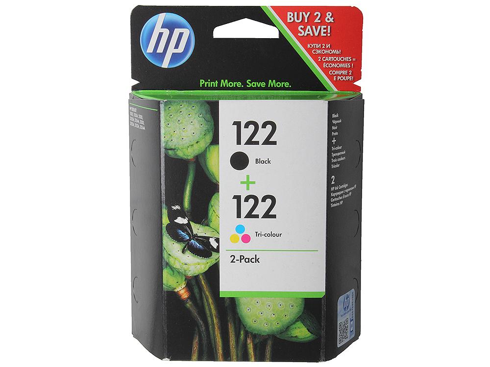 Комплект картриджей HP CR340HE (№122) (CH561HE + CH562HE) черный+ цветной Deskjet 2050 картридж hp cr340he