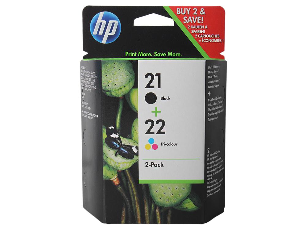 Комплект картриджей HP SD367AE (№21) (C9351АE + C9352AE) черный+ цветной 3920/3940/PCS1410 картридж hp sd367ae 21 22 для hp dj 3900 d1400 d1500 черный цветной