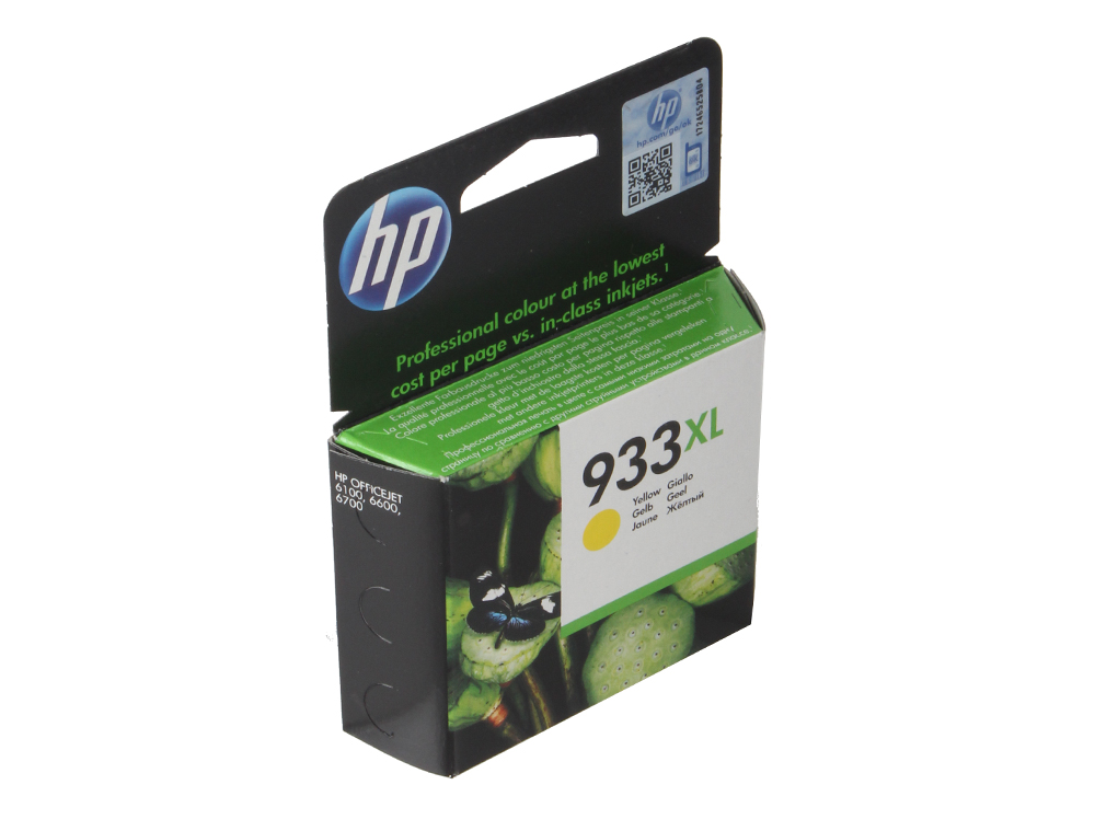 Картридж HP CN056AE (№ 933XL) желтый OJ 6700 картридж hp pigment ink cartridge 70 black z2100 3100 3200 c9449a